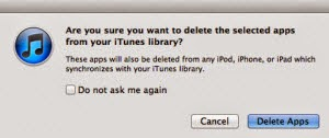 Remove Unused Apps On iTunes