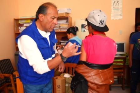 Vacunación hecha en el Centro de Acogida Félix Méndez Arcos