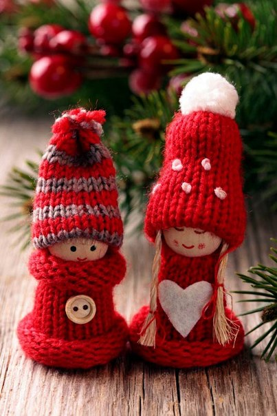Homemade knitted Christmas decorations ~ Home Decorating Ideas