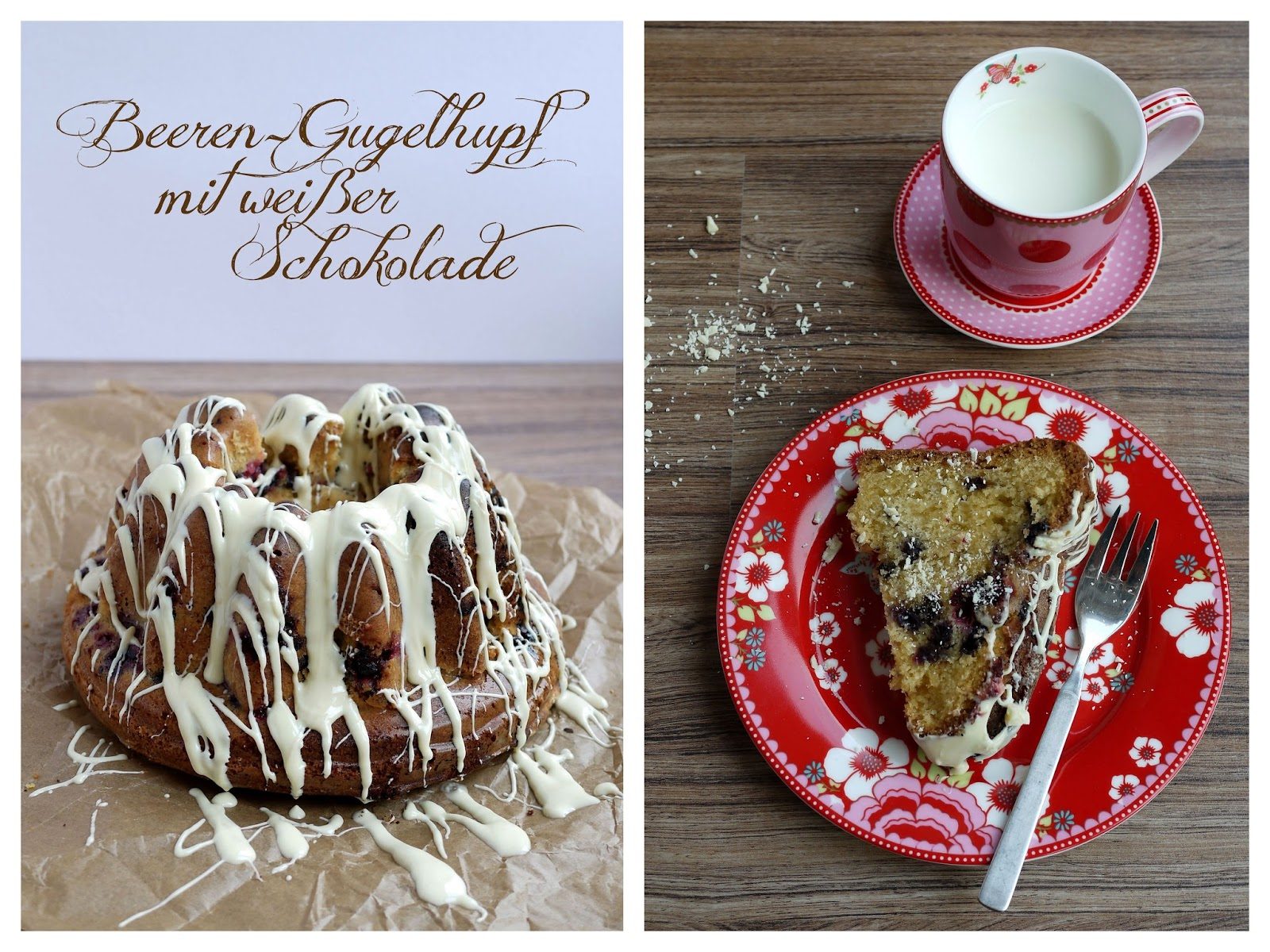 Beeren-Gugelhupf mit weißer Schokolade | Backen | Kuchen | Rezept