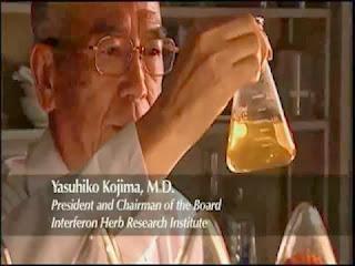 Dr. Yasuhiko Kojima - menemui penggalak interferon dari herba cina