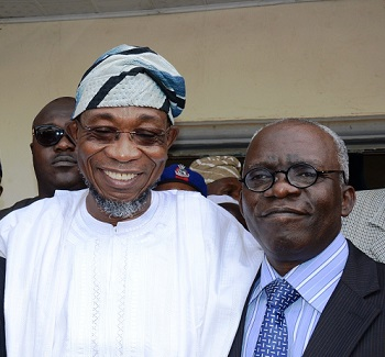 Femi Falana and Aregbesola