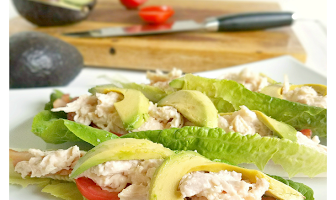 BLTA Chicken Lettuce Wraps
