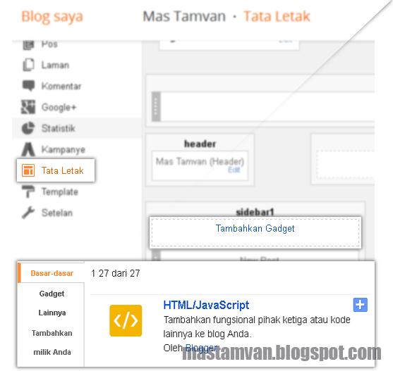 Layout Tata Letak Blogger
