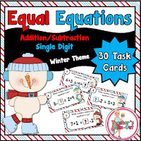 Winter Equal Equation using addition and subtraction