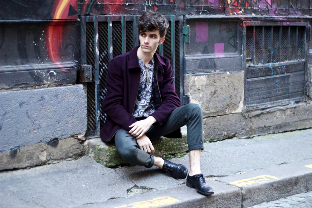 Blog-mode-style-homme-masculin_bordeaux-saint-michel-harrington-ted-baker-veste-chemise-ethnique-paisley-vintage-chino-vert-margiela-atelier-edition-limitée-streetstyle-instagrammeur-francais - 1