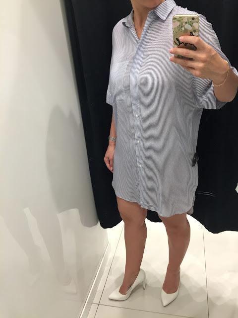 robe chemise rayure Bershka