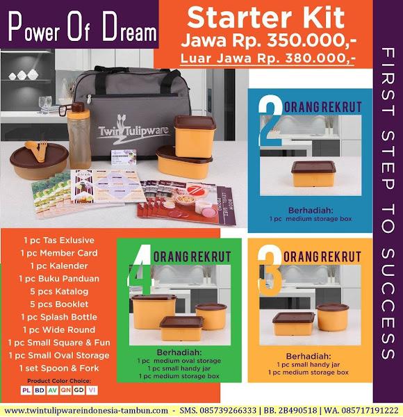 POD - Starter Kit, Kitbag, Paket Tulipware lengkap exclusive