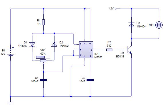 Rangkaian Motor Dc  impremedia