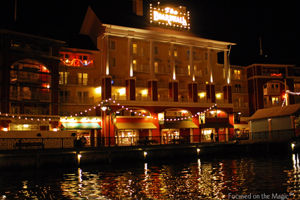 The BoardWalk Resort at night