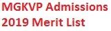 MGKVP Admission Merit List 2019-2020 Counseling Cut Off Marks Online