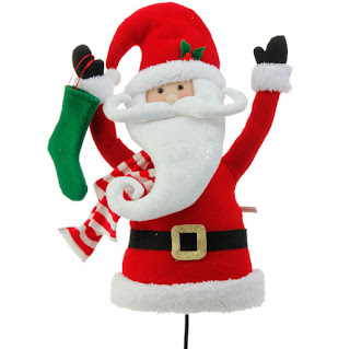Santa Torso plush decoration