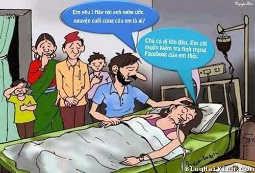 Sắp chết vẫn nghiện Facebook