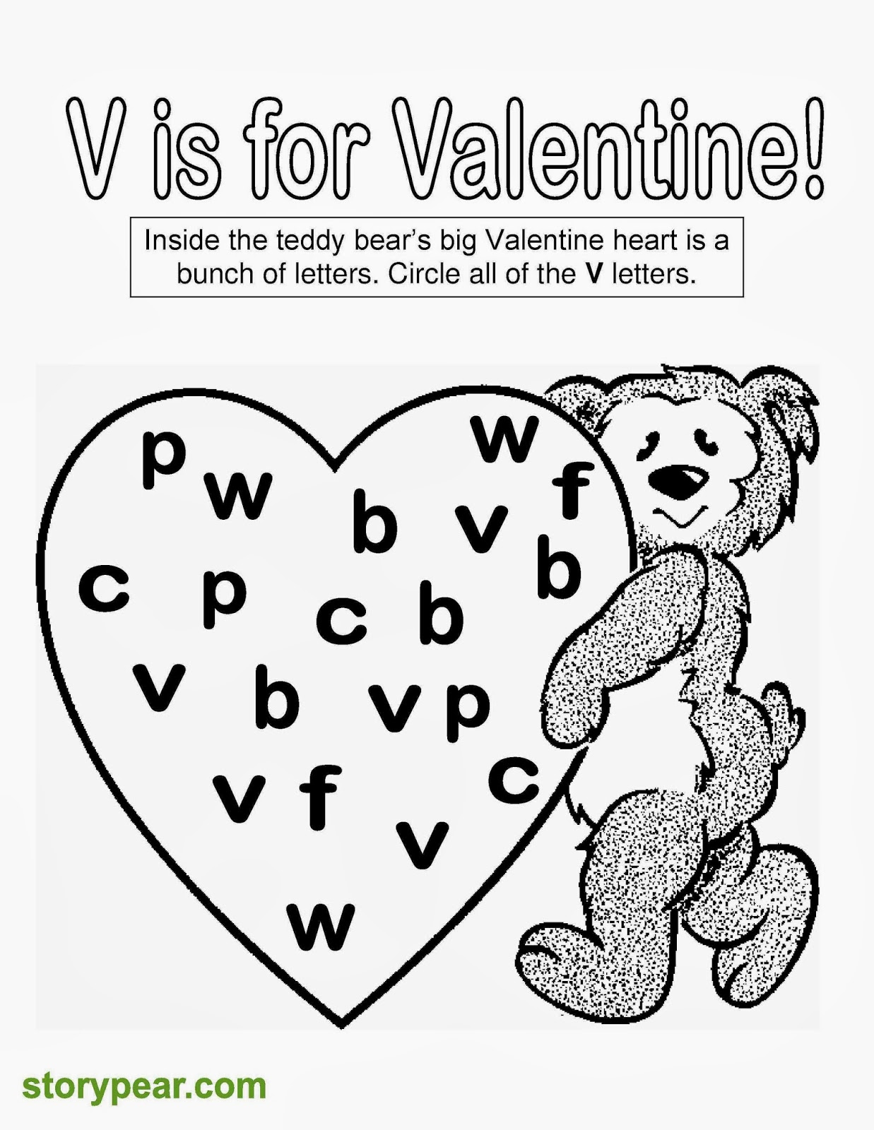 Story Pear Free Valentine Days Printable Sheets For Preschoolers - Free-printable-sheets