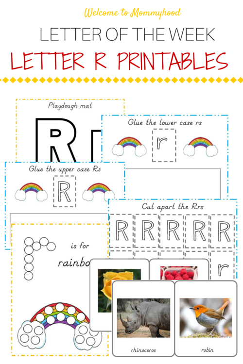 Tot Labs presents Letter of the Week: FREE letter R printables pack by Welcome to Mommyhood, #preschoolactivities, #montessoriactivities, #montessori, #handsonlearning, #letteroftheweek, #lotw, #freeprintables