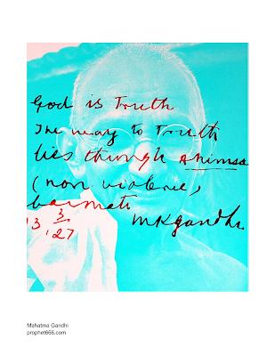 Image of Mahatma Gandhi's Prophecy