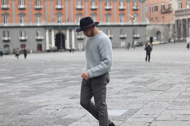 cappello a falda larga uomo