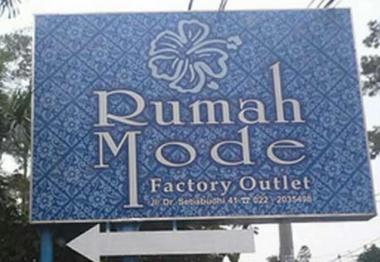 Wisata Belanja Rumah Mode Factory Outlet Bandung