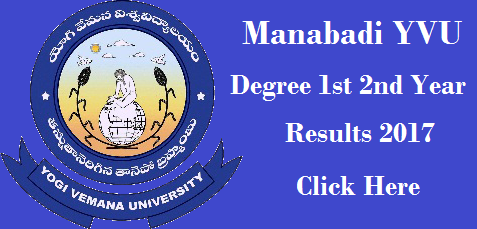 manabadi yvu degree results 2017 1st, 2nd year