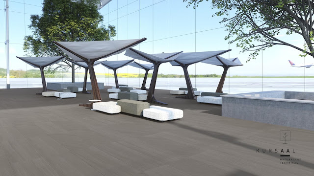 Outside floor tiles design Kursaal series of Argenta