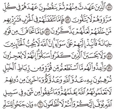 Tafsir Surat Al-Anfal Ayat 56, 57, 58, 59, 60