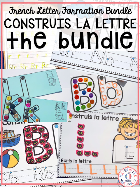 French letter formation BUNDLE - Construis la lettre - four awesome activities all bundled together to help your French kinders learn how to make their letters. Includes whole group, small group, and independent activities!
