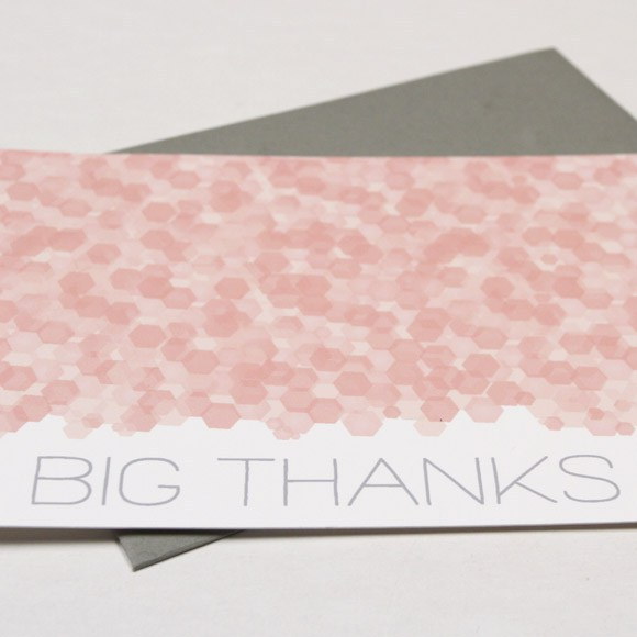 Sequins Thank you Card by Love vs. Design