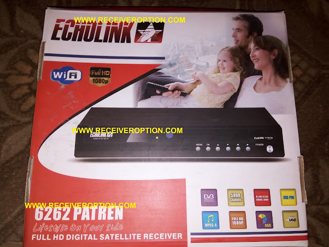 ECHOLINK 6262 PATREN HD RECEIVER CCCAM OPTION