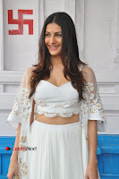 Telugu Actress Amyra Dastur Stills in White Skirt and Blouse at Anandi Indira Production LLP Production no 1 Opening  0039.JPG
