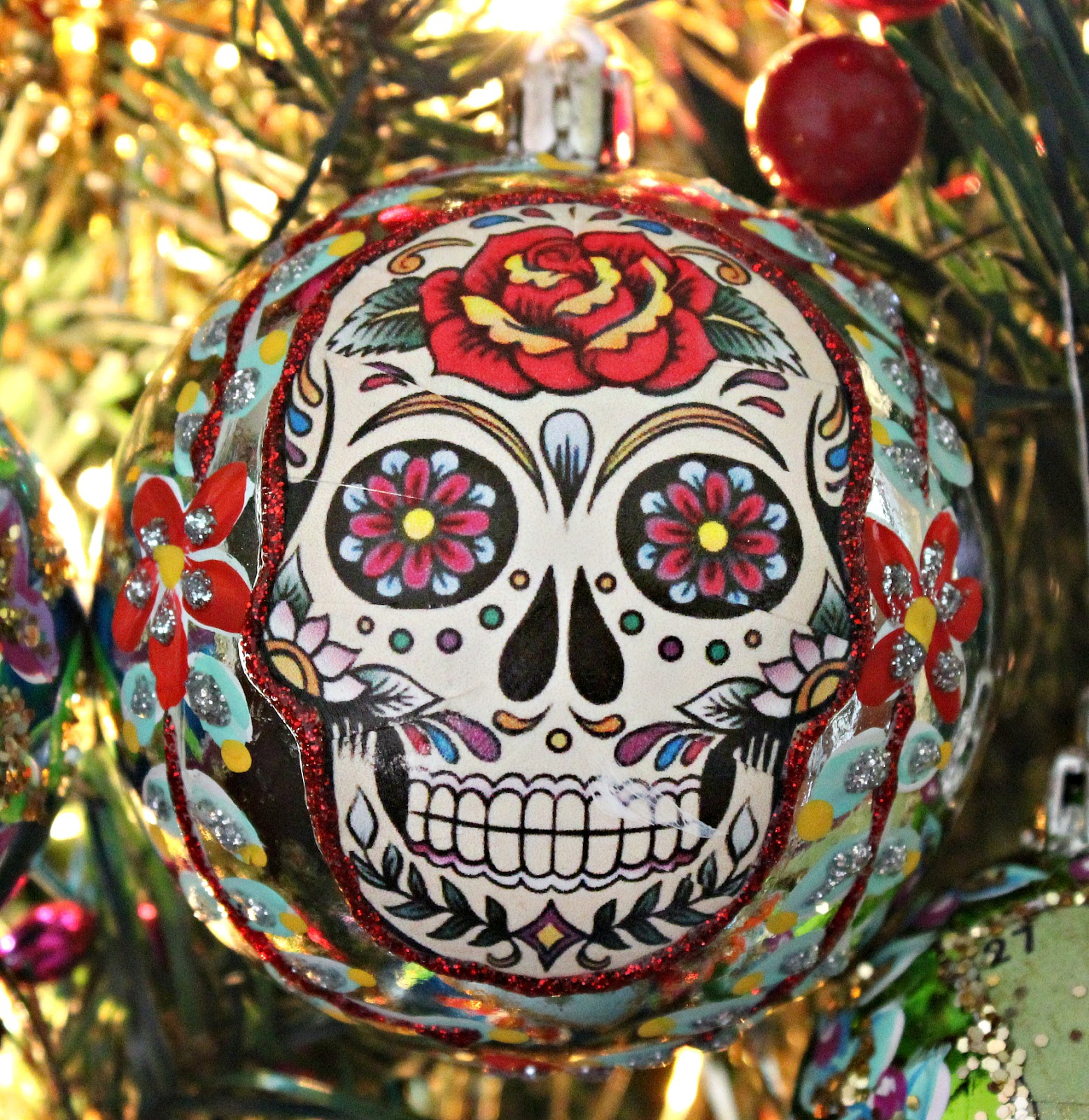 this is one of my favorites - Christmas Sugar Skull
