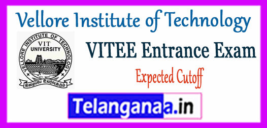 VITEEE Vellore Institute of Technology Engineering Entrance Exam Expected Cutoff 2018