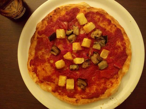 Pizza vegana fatta in casa