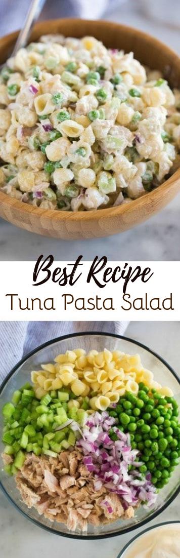 Tuna Pasta Salad #vegan #recipevegetarian