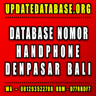 Jual Database Nomor Handphone Bali