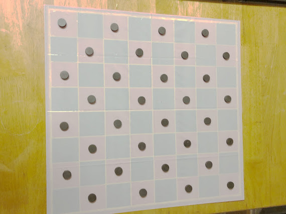 Extra Large Magnetic Checkers Board Game