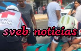 Taxista atropella a mujer embarazada en avenida Allende del puerto de Veracruz