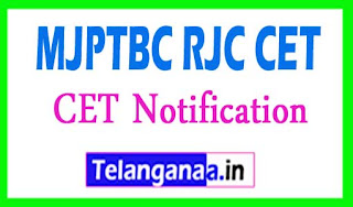 MJPTBC RJC CET Notification 2017 MJP TS BC Welfare RJC CET Notification 2017