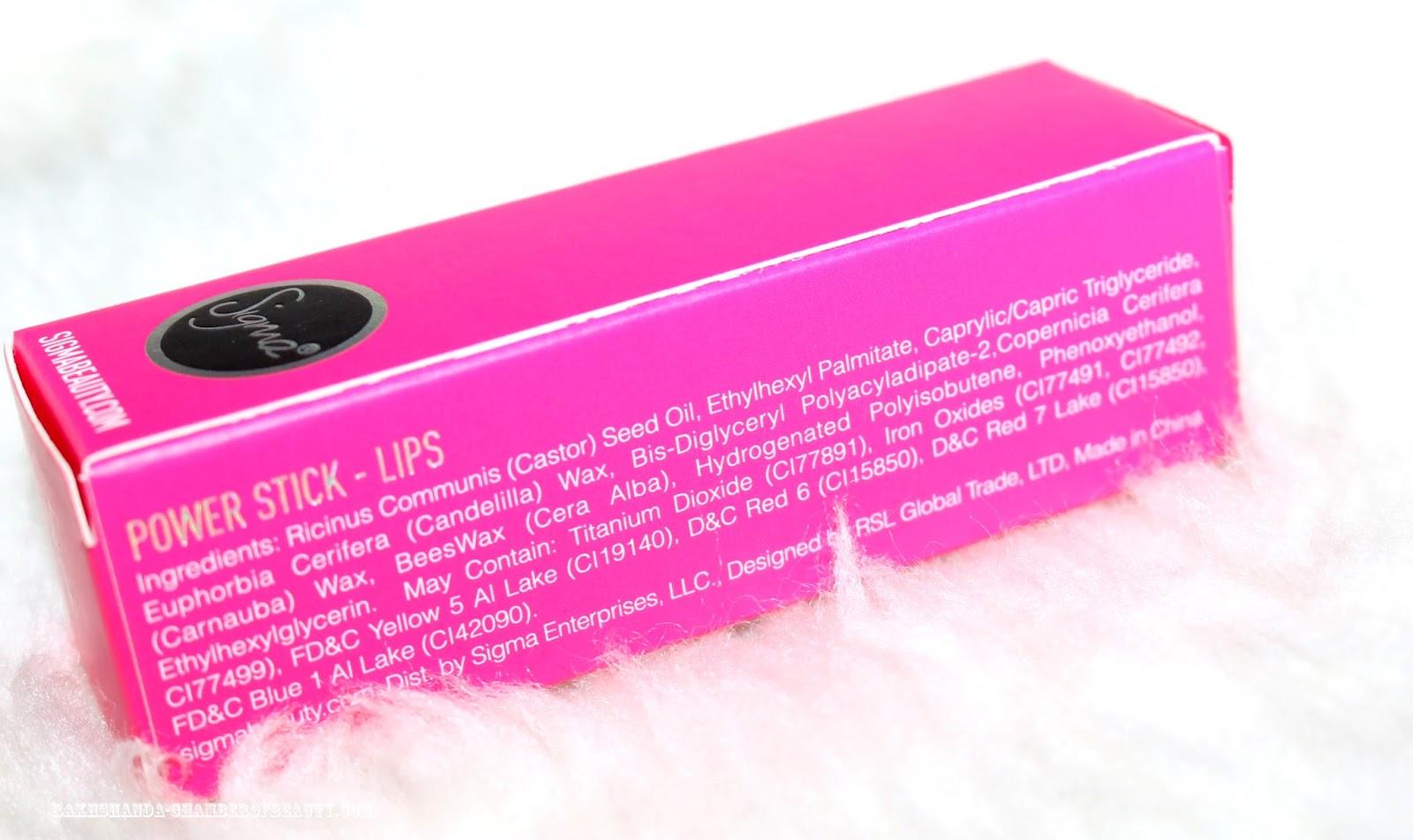 Sigma Beauty lipstick, Power Stick, Sigma Pink, review, Sigma Pink review & swatches, Sigma India,