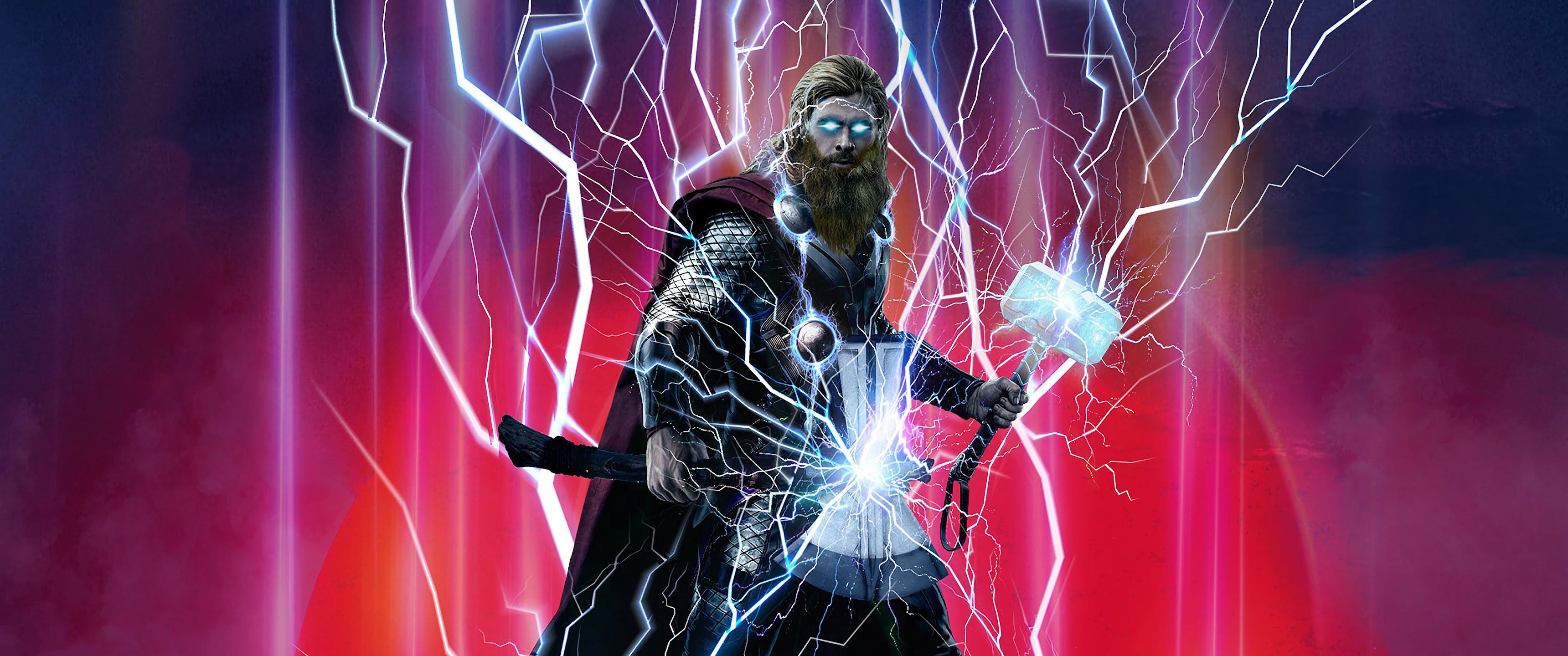 Avengers: Endgame, Thor, Stormbreaker, Hammer, Lightning ...