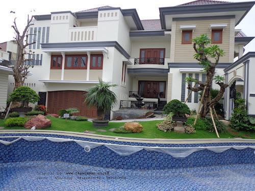 Taman klasik tropis dan kolam renang | Tukang Taman Surabaya barat | www.jasataman.co.id