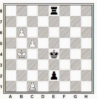 Posición de la partida de ajedrez Sirokov - Rubin (URSS, 1984)