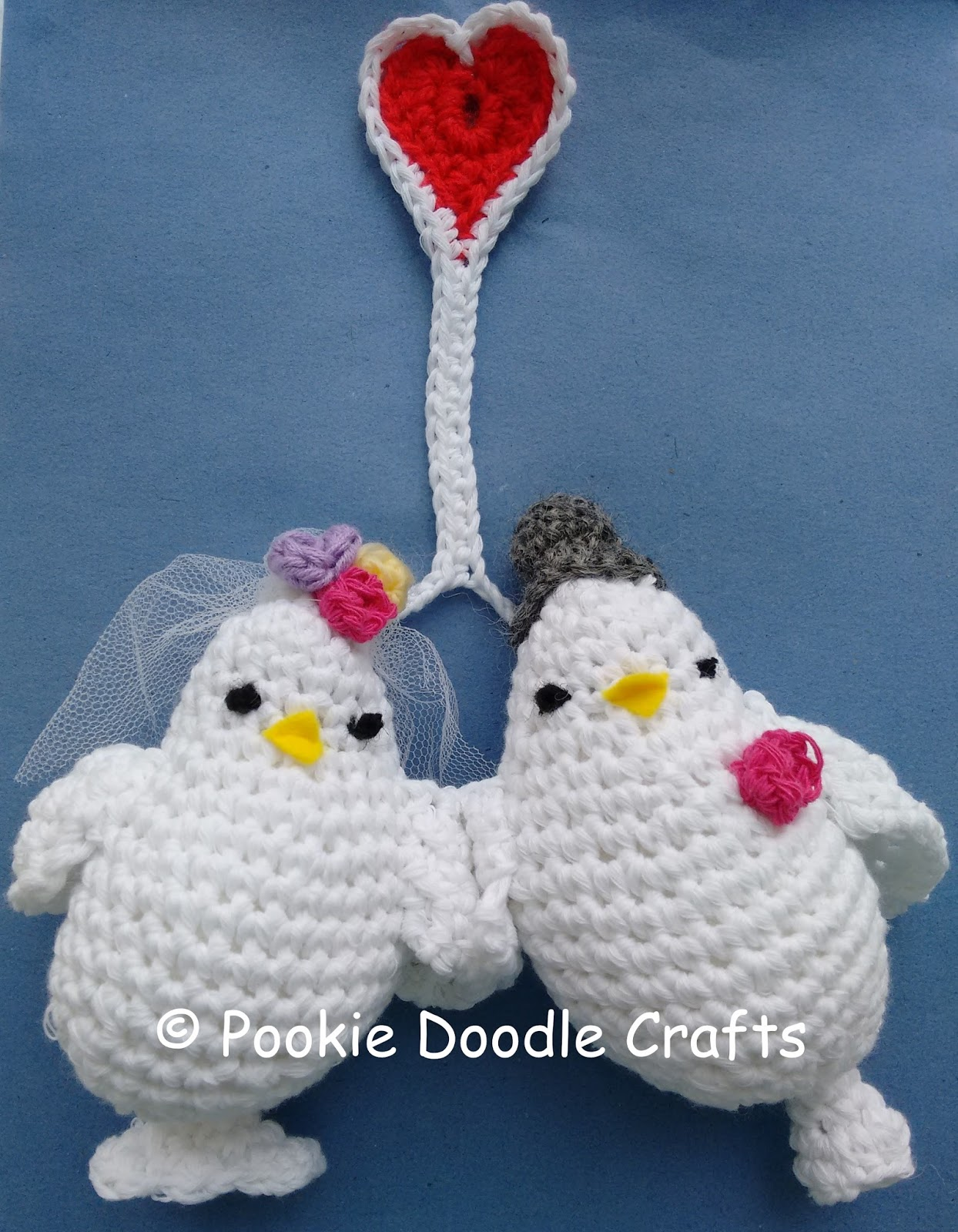 Lovebirds – Free Crochet Amigurumi Pattern | Padrões de animais de ... | 1600x1244