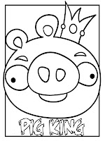 Pig King Angry Birds Printable Kids Coloring Book