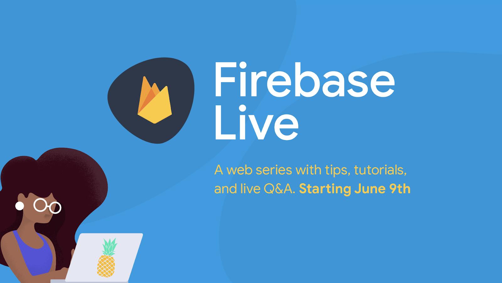 Firebase banner. Firebase Live.