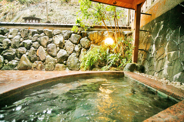 Outdoor hot spring of Yuraku Kinosaki Spa & Garden