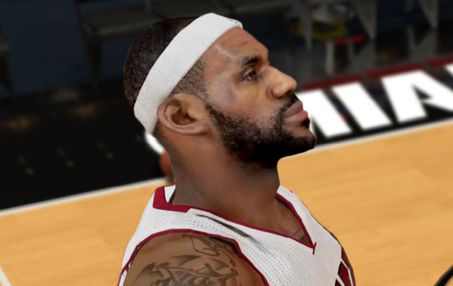 NBA 2K14 LeBron James Next-Gen Cyberface