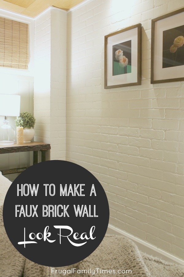 faux bricks