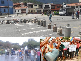 (Imagen) una espiral de insatisfacción y protestas en varias de las zonas afectadas, creando a su vez caos en los hospitales públicos de Venezuela