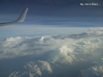 Cloud cover from airplane - Mumbai