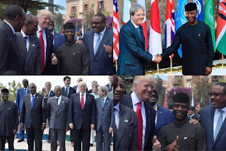 Excited Trump meets Acting President Yemi Osibanjo (photos)
